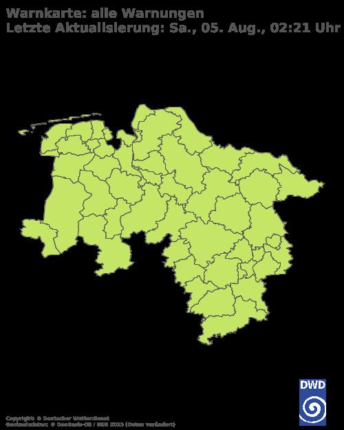 Aktuelle Wetterwarnungen für Rotenburg (Wümme)