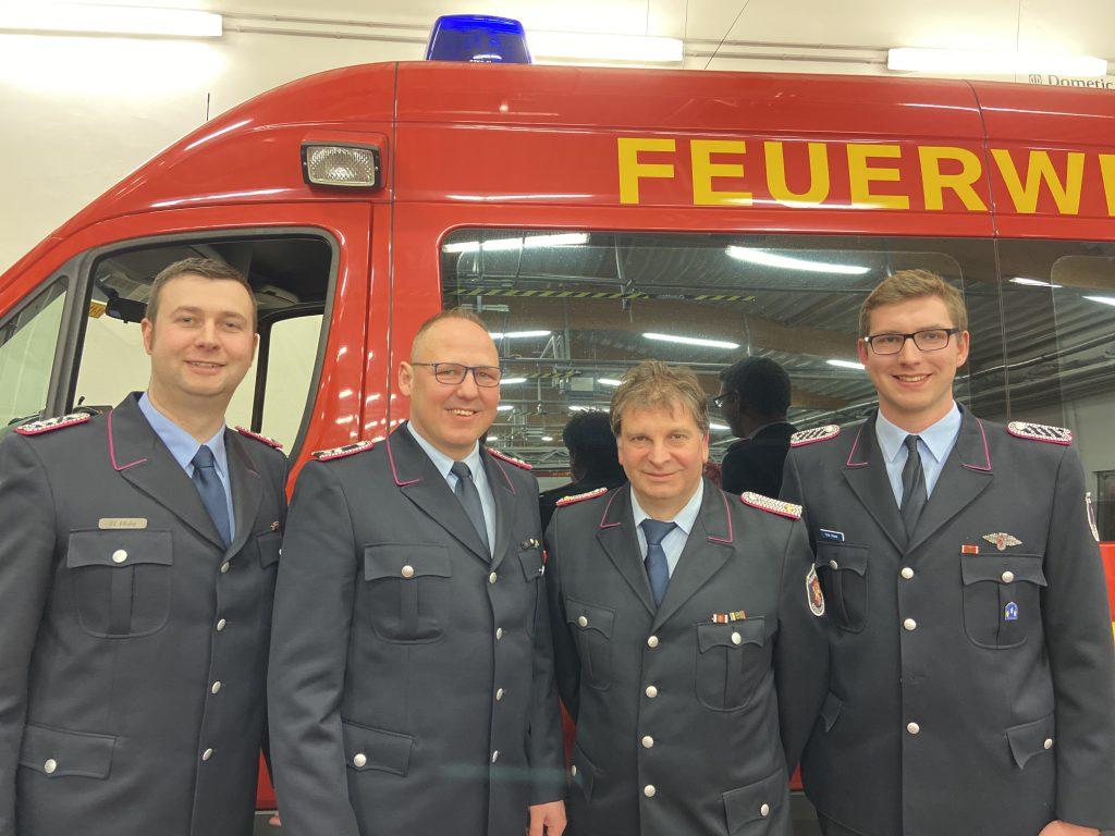(v.l. Hendrik Holst, Andreas Stelling, Nico Tschierschke, Felix Haase)